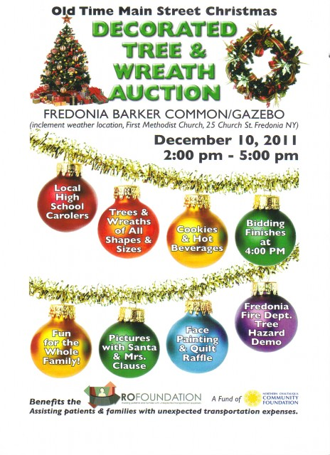"Old Main Street Christmas ""Decorated Tree & Wreath Auction"""